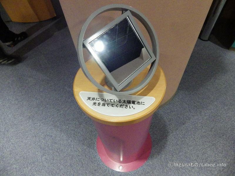 天井の太陽光パネルにこの鏡の光を反射させます