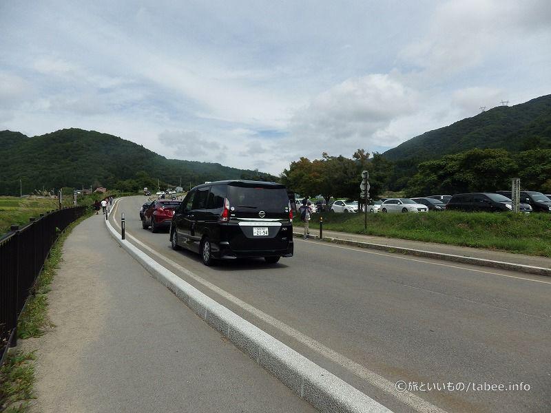 駐車するための渋滞ができていました