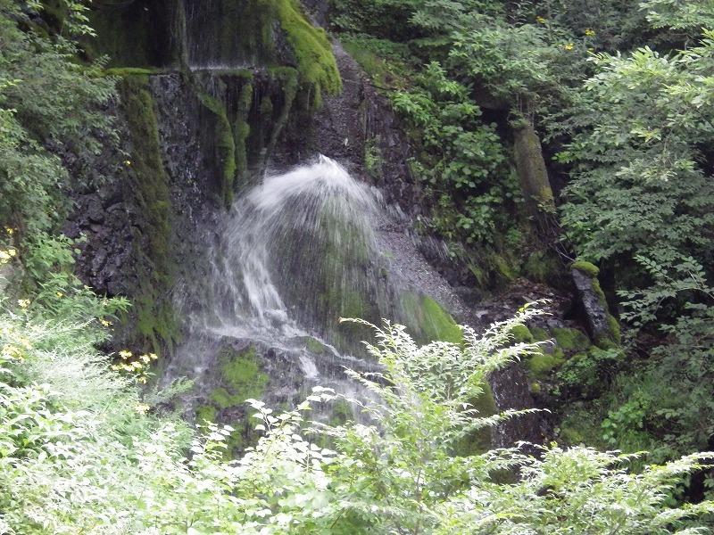 観瀑台の左側にある滝?