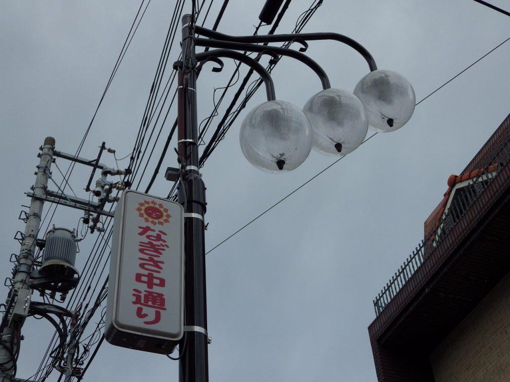 商店街の街燈