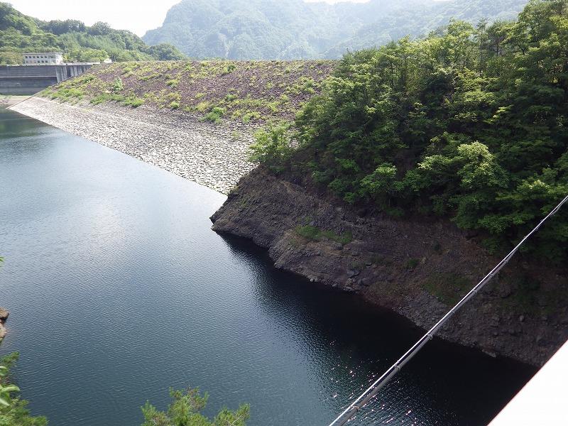 堤体(だいこくやそばの橋から撮影)