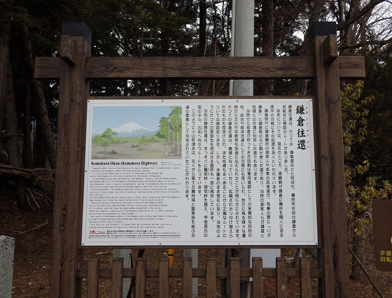 鎌倉往還について説明してある看板