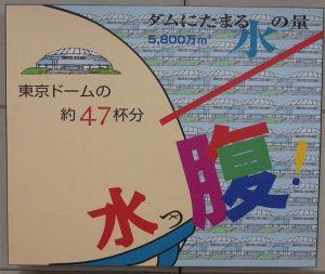 ダムにたまる水の量東京ドーム47杯分