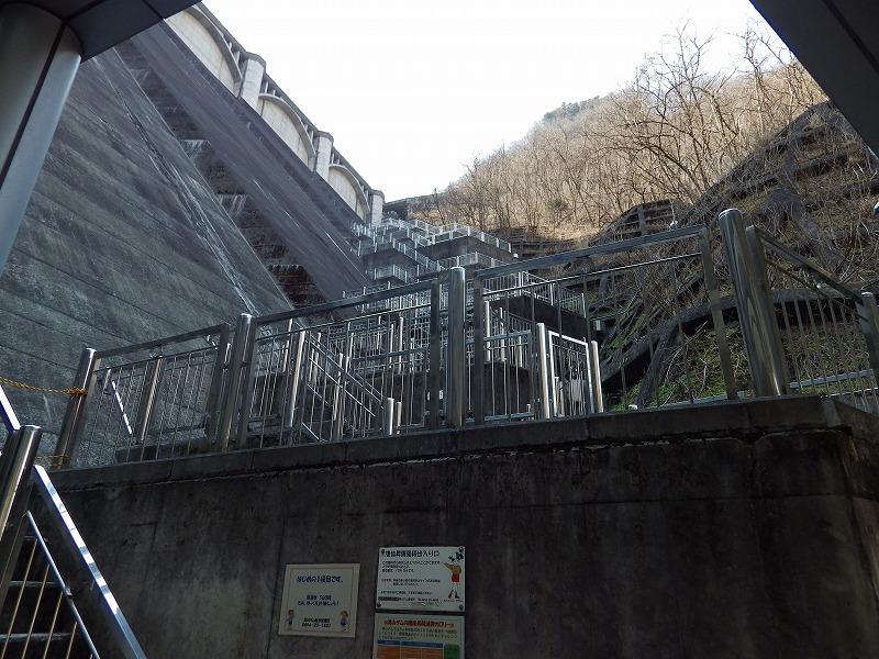 目まい階段を下から眺める