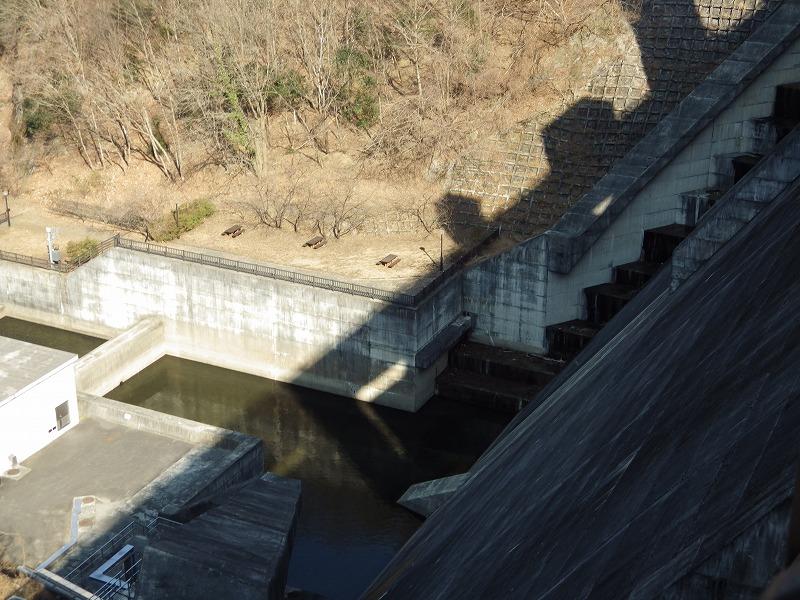 堤頂からの眺め