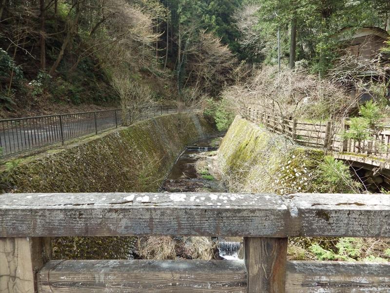 飛龍橋から上流を眺める