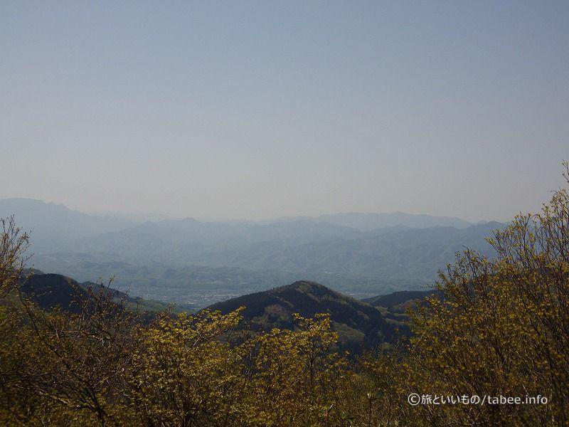 山々の色の変化がきれいです