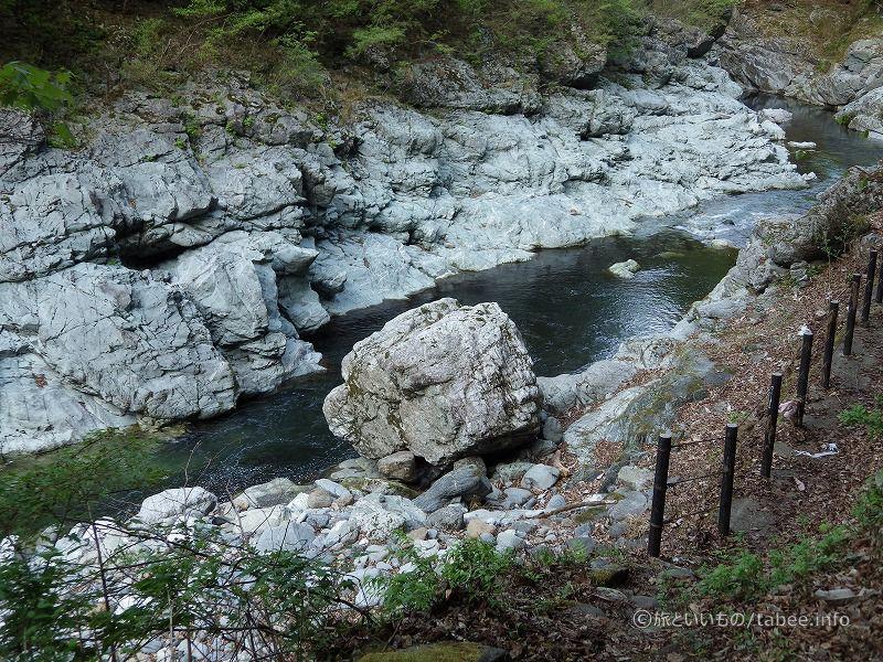 川にも大きな岩がゴロゴロ転がっています