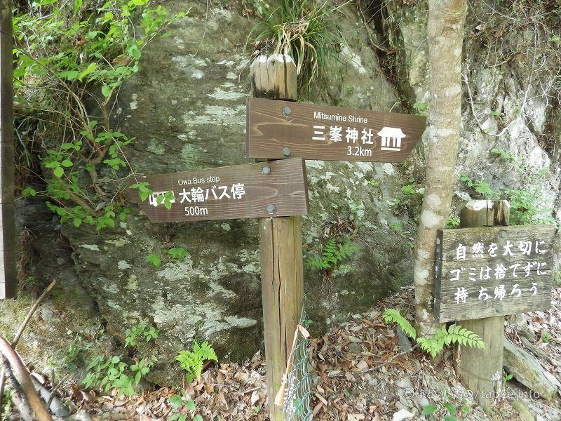 三峰神社まで遠いです