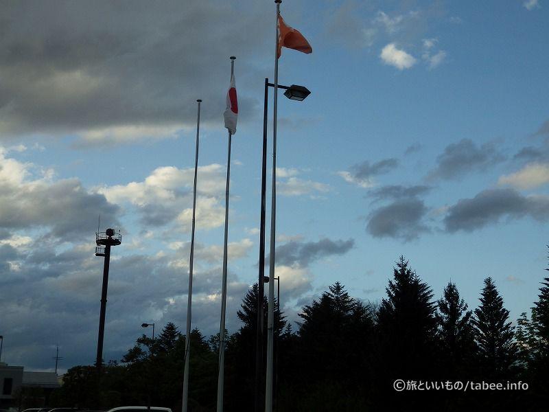 長野県の旗と国旗