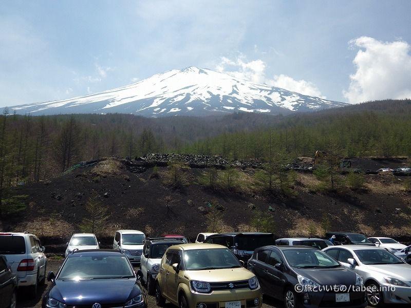 駐車場から富士山