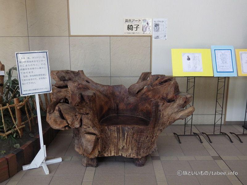 流木でできた椅子