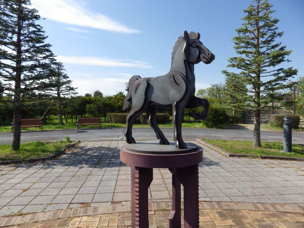 信州スカイパークの馬のオブジェの元画像