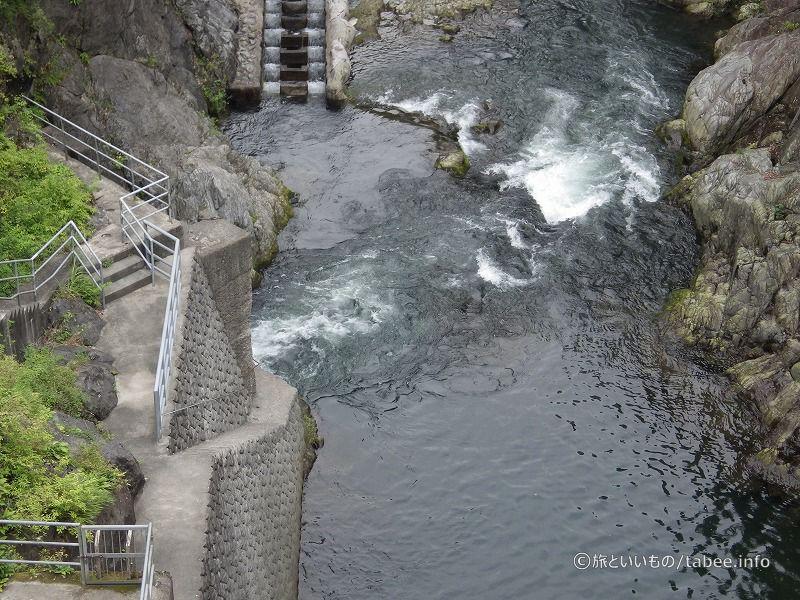 白丸発電所の放水口