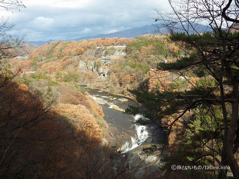 観瀑台から見た吹割の滝