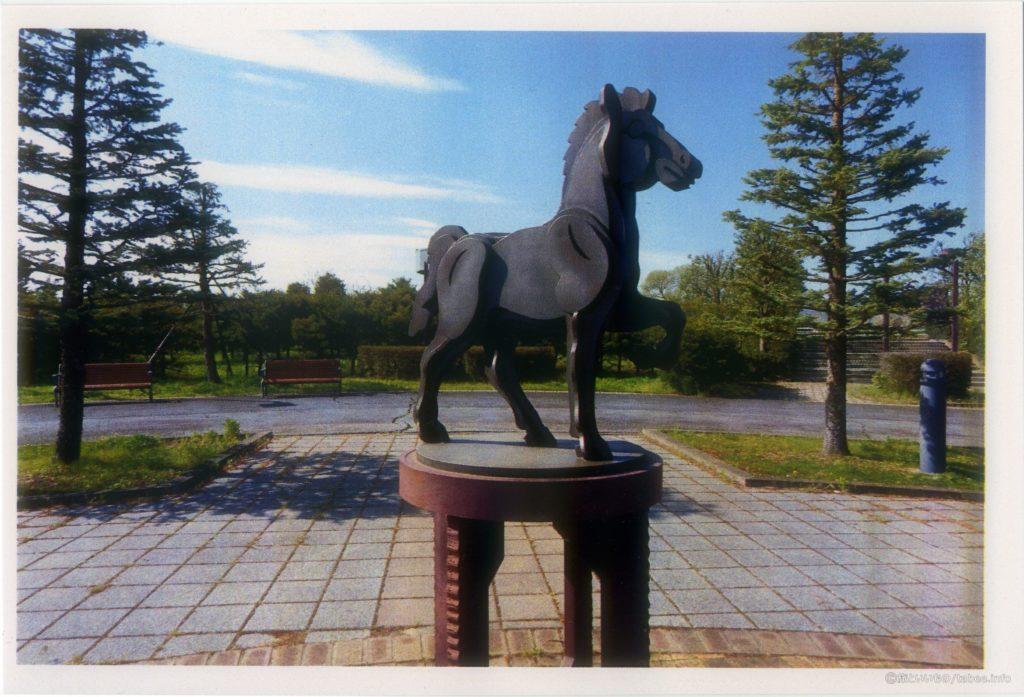 印刷した馬のオブジェ