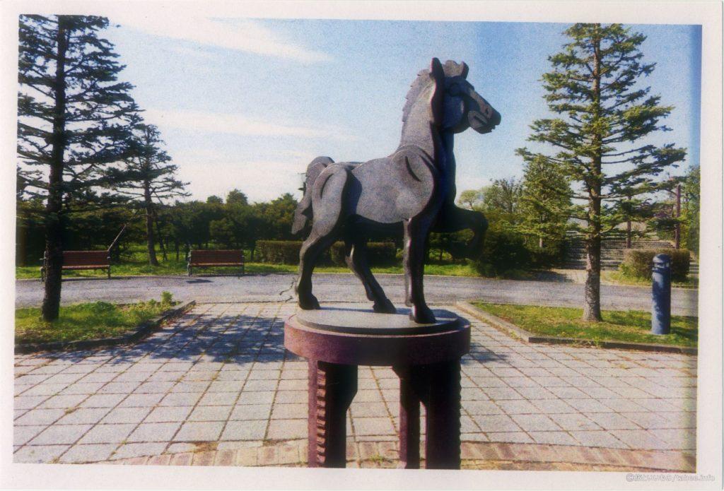 間違えて裏面に印刷した馬のオブジェ