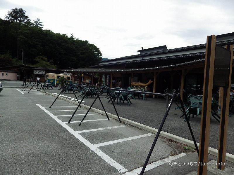 スポーツタイプの自転車置き場