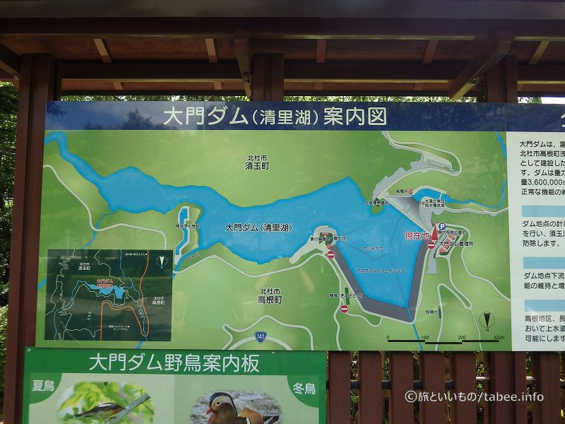 大門ダムの案内図