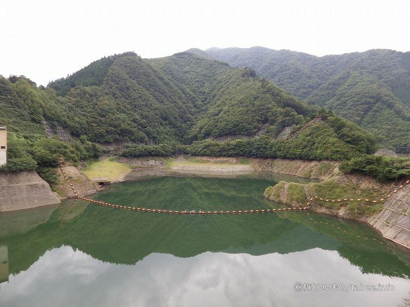ダム湖はシオジの森ふかしろ湖