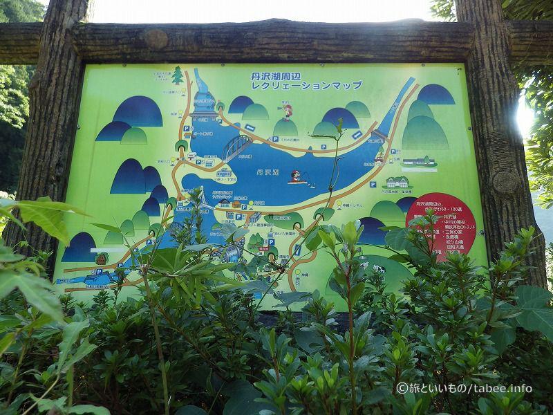 丹沢湖周辺案内図