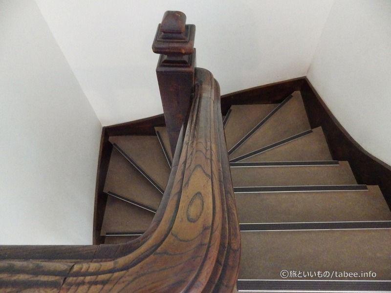 この階段の手すりの手触りがすごく良かったです