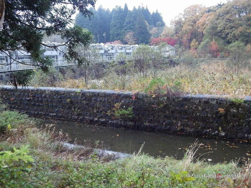 右岸の水路