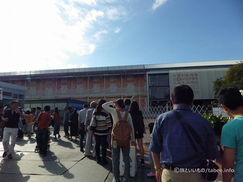 ブリュナエンジンは仮設の展示場に設置されています