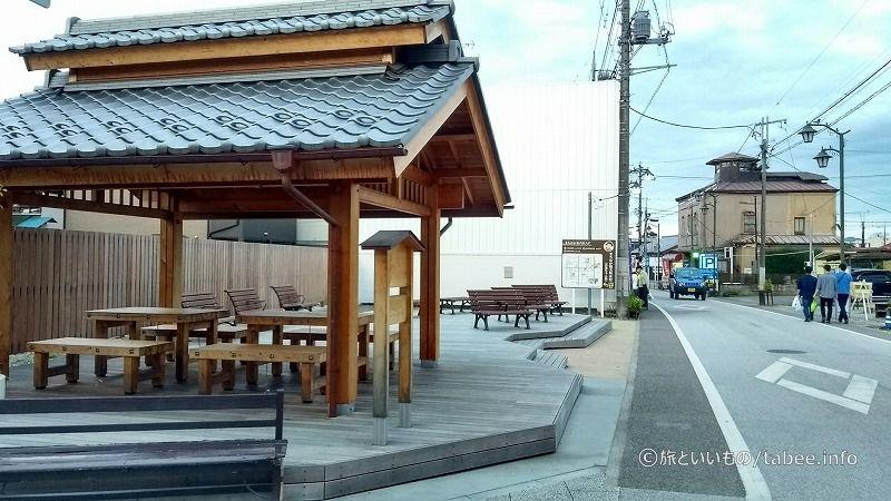 富岡製糸場近くの休憩所