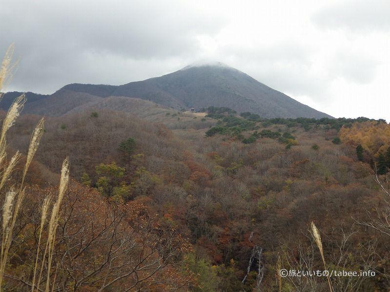 磐梯山の雲が少し晴れました
