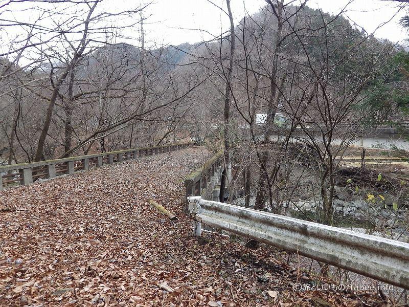 旧栃木平橋が見えてきました