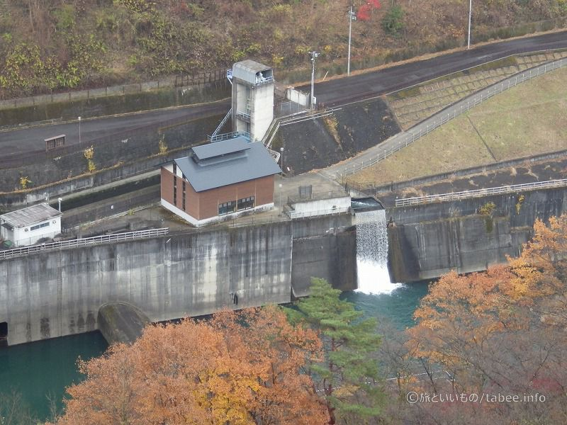 第二発電所と放流設備