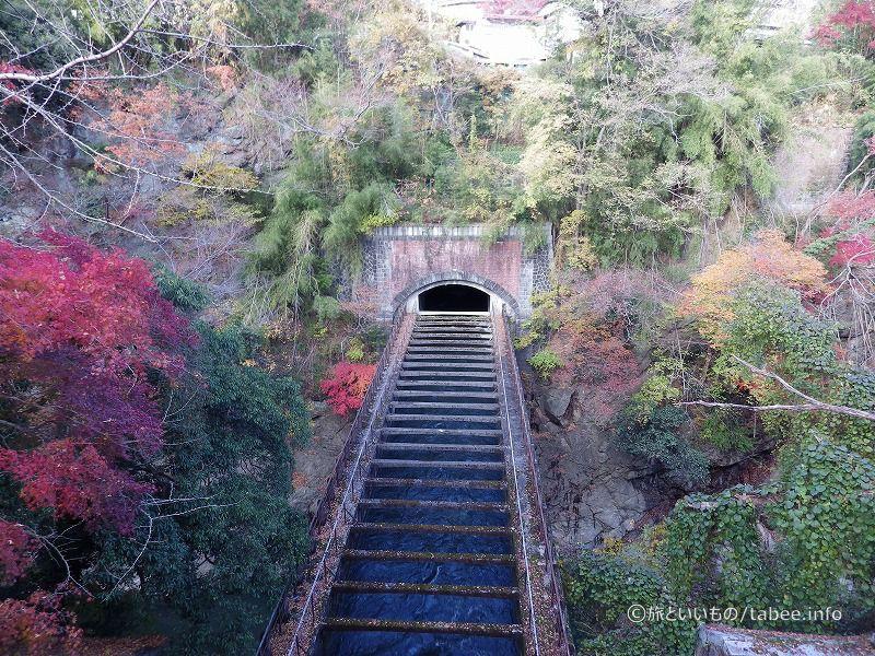八ツ沢発電所施設 第一号水路橋正面