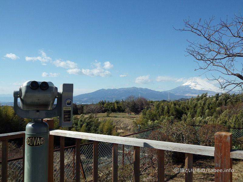 富士山と双眼鏡