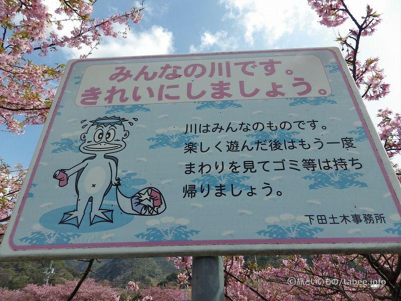 看板も桜と空色