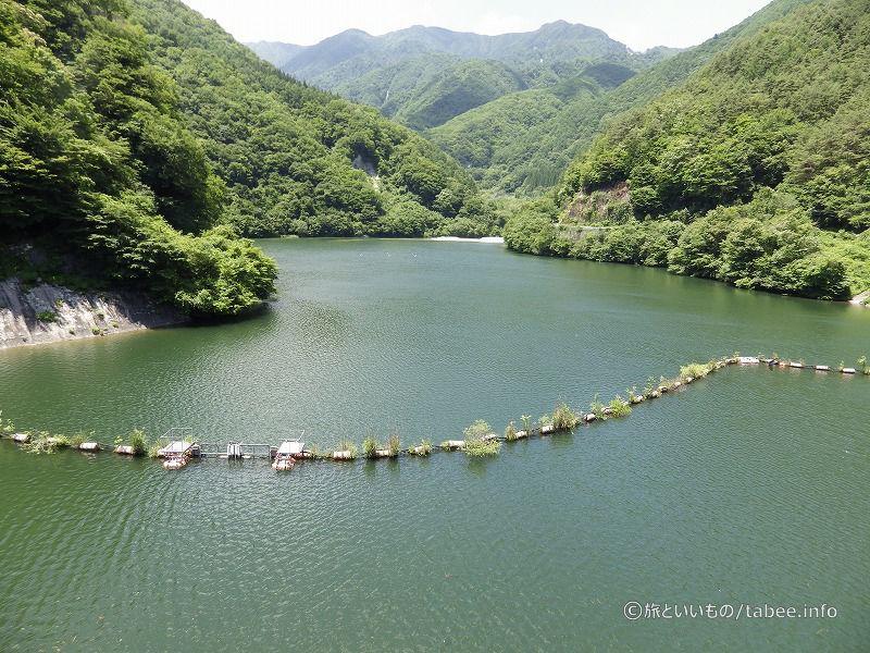 ダム湖は松川湖
