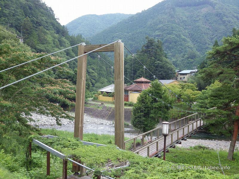 吊り橋を渡ってみましょう