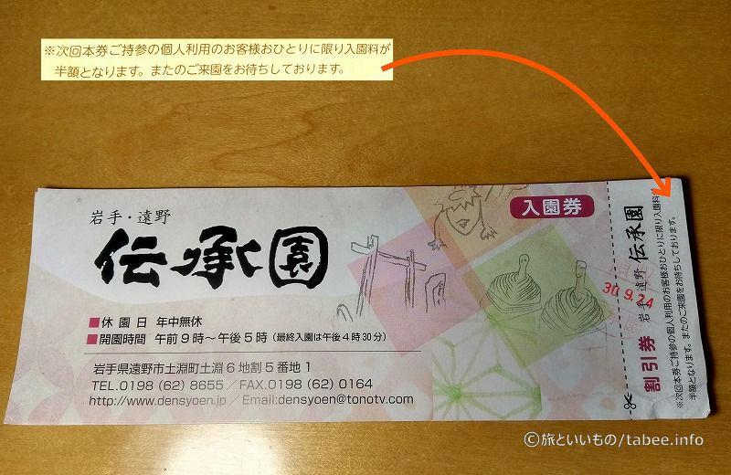 入園券(次回半額の割引券付)