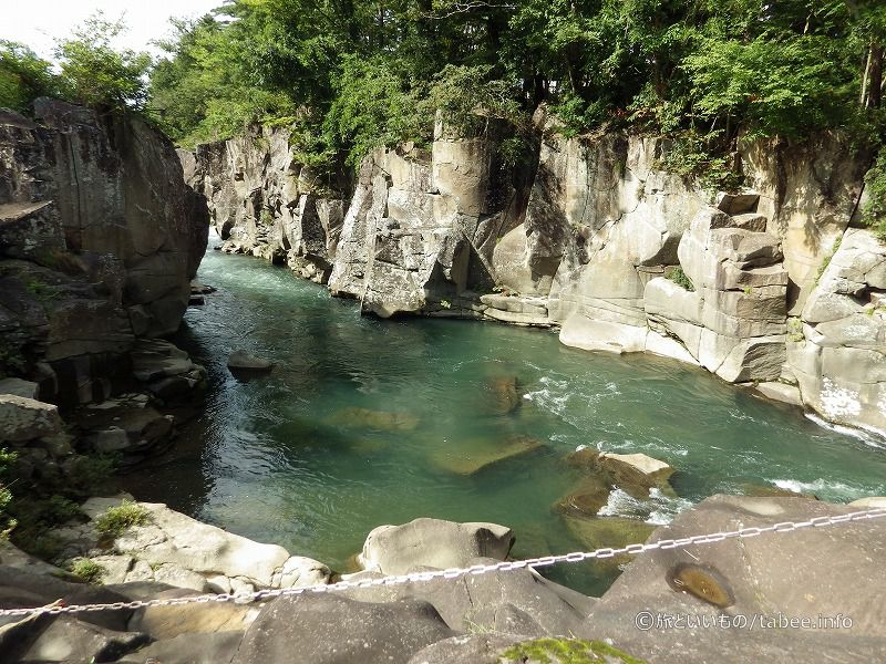 エメラルド色の川