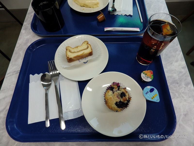 ブルーベリーマフィンとアップルチーズケーキ