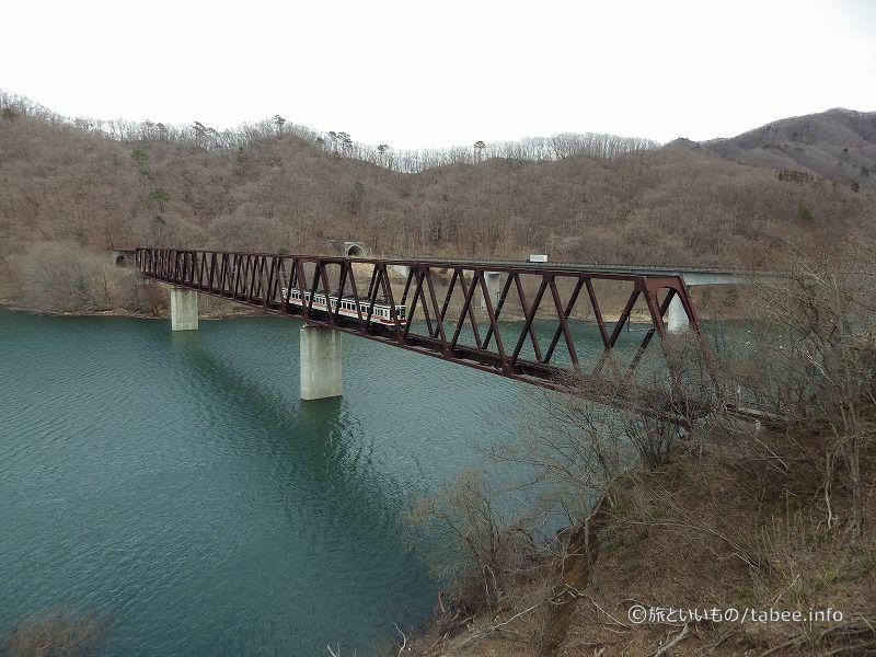 湯西川温泉駅そばの鉄道橋