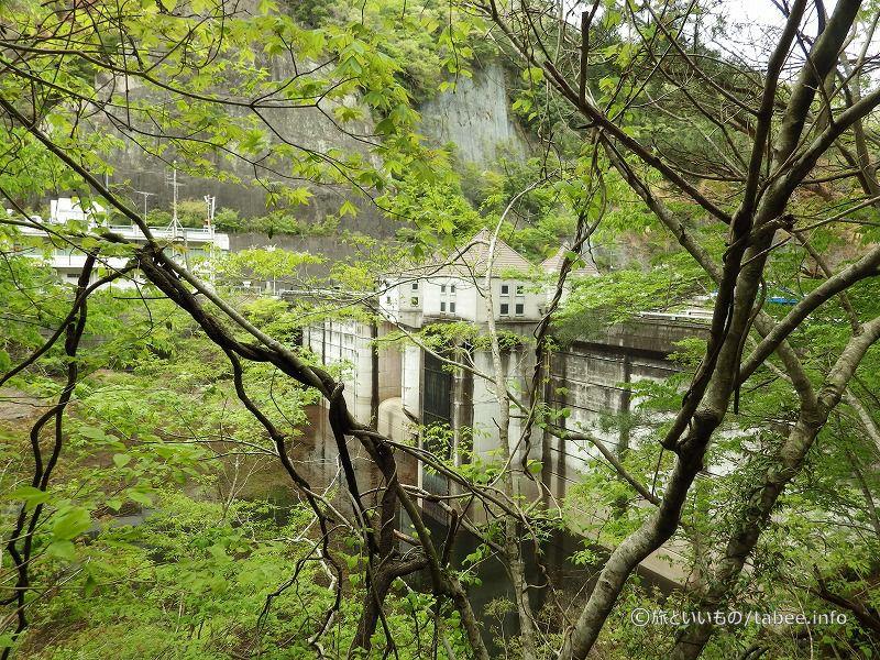 途中から見えた竜神ダム上流側