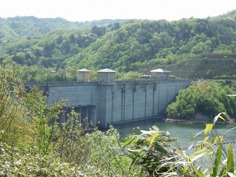 ダムの上流側