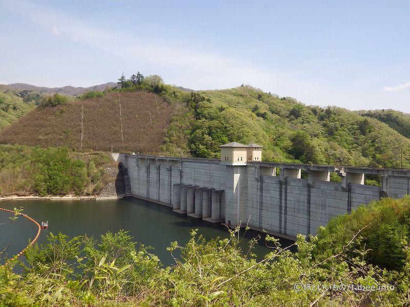 ダム上流側がよく見えます