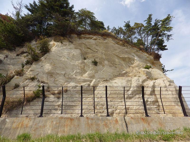 砂っぽい崖