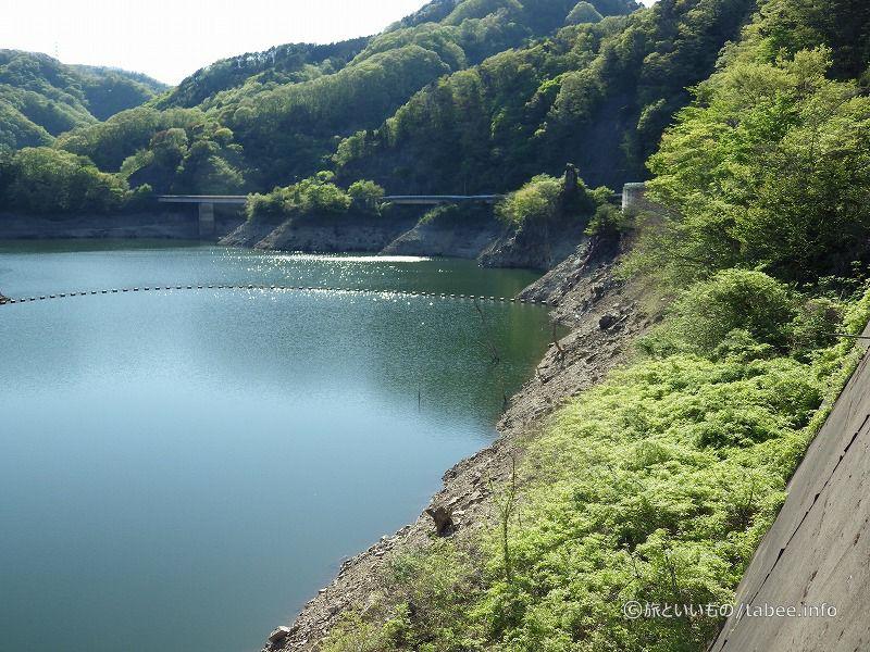 横川貯水池と網場