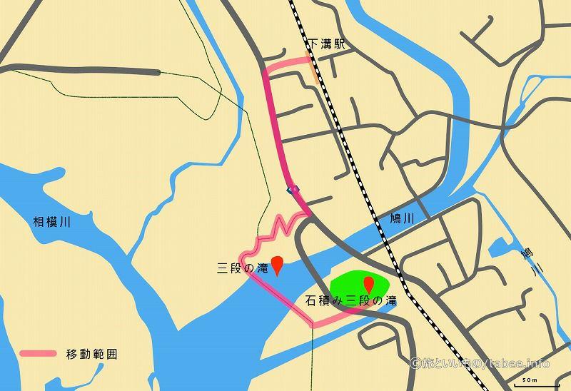 三段の滝地図