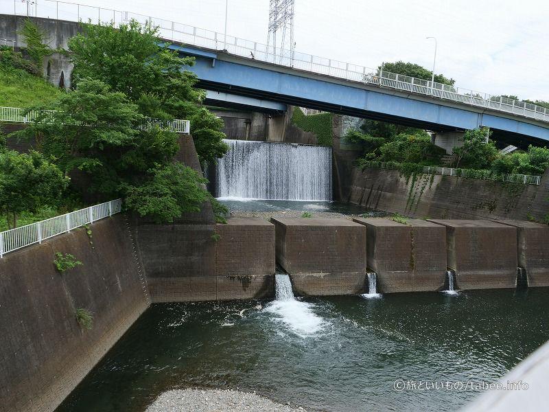 こちらが鳩川分水路です