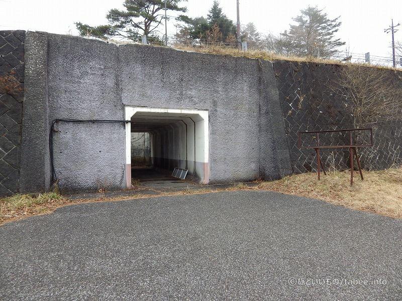 トンネルを振り返ったところ