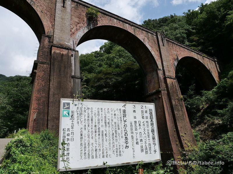 全長91 m川底からの高さ31 m、使用された煉瓦は約200万個